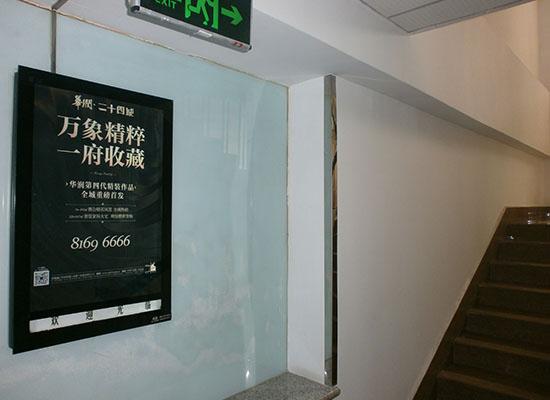 新天杰电梯框架广告