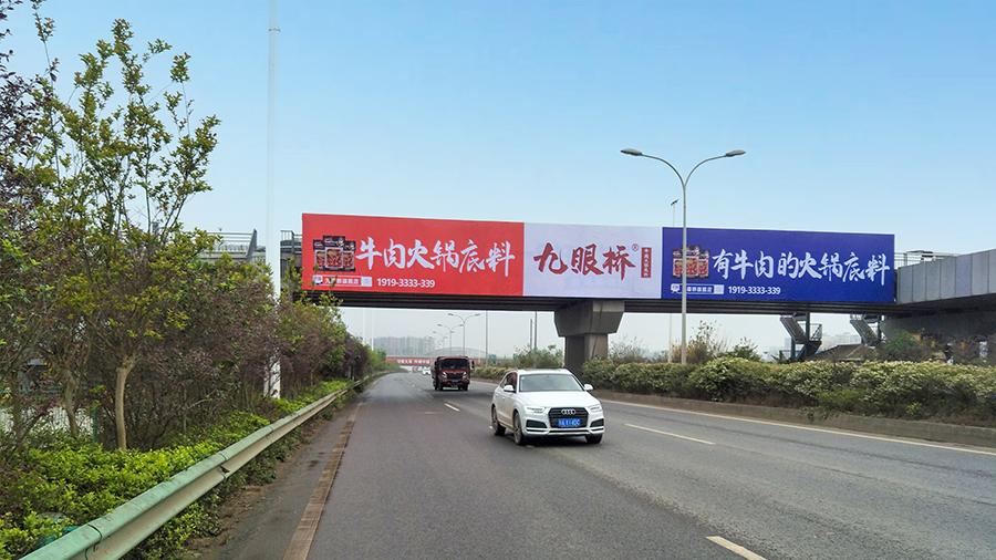 成自泸天桥广告(收费站旁)