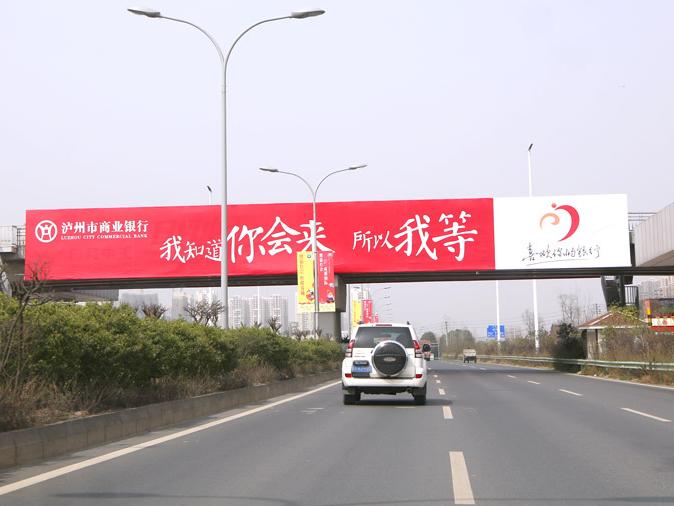 新天杰成自泸高速跨线桥广告