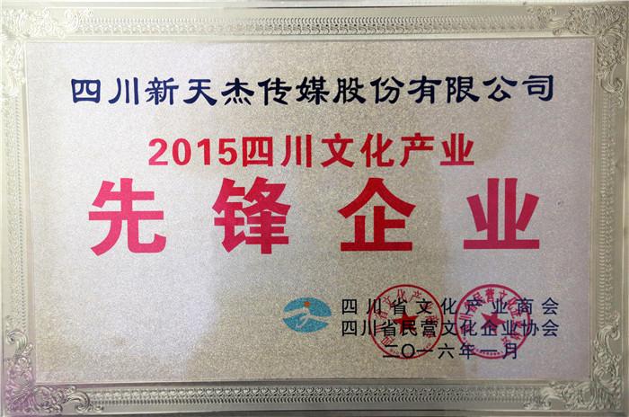 2015年四川文化产业先锋企业