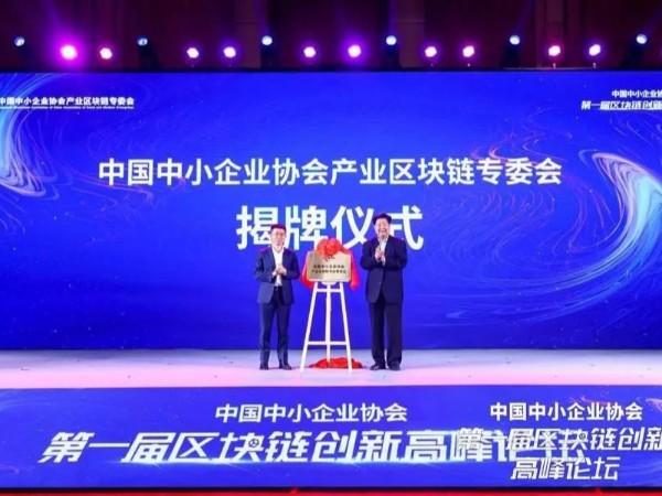 中国中小企业区块链专委会授予新天杰·西南天府数字首批理事单位